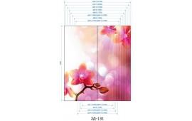 Фотопечать 2Д-131 для шкафа-купе на две двери. Цветы