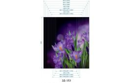 Фотопечать 2Д-153 для шкафа-купе на две двери. Цветы
