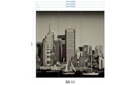 Фотопечать 3Д-11 для шкафа-купе на три двери. Виды города