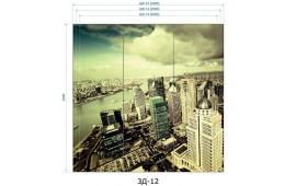 Фотопечать 3Д-12 для шкафа-купе на три двери. Виды города