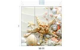 Фотопечать 3Д-25 для шкафа-купе на три двери. Морская тематика