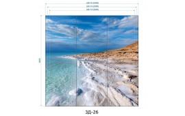 Фотопечать 3Д-26 для шкафа-купе на три двери. Морская тематика