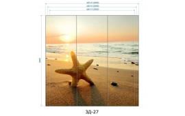 Фотопечать 3Д-27 для шкафа-купе на три двери. Морская тематика
