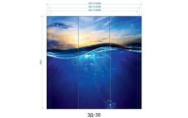 Фотопечать 3Д-30 для шкафа-купе на три двери. Морская тематика