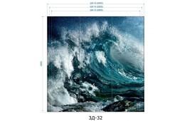 Фотопечать 3Д-32 для шкафа-купе на три двери. Морская тематика