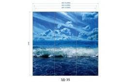 Фотопечать 3Д-35 для шкафа-купе на три двери. Морская тематика