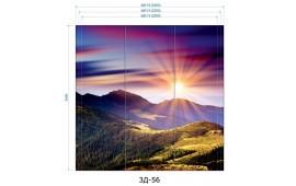 Фотопечать 3Д-56 для шкафа-купе на три двери. Горы