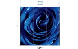 Фотопечать 3Д-93 для шкафа-купе на три двери. Цветы