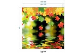 Фотопечать 3Д-94 для шкафа-купе на три двери. Цветы