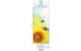 Фотопечать 1Д-04 для шкафа-купе на одну дверь. Цветы