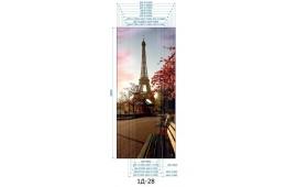 Фотопечать 1Д-28 для шкафа-купе на одну дверь. Париж