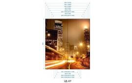 Фотопечать 2Д-07 для шкафа-купе на две двери. Ночной город