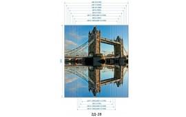 Фотопечать 2Д-23 для шкафа-купе на две двери. Лондон