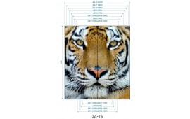 Фотопечать 2Д-73 для шкафа-купе на две двери. Тигр