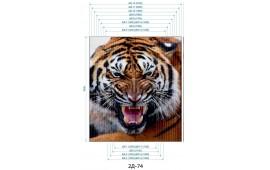 Фотопечать 2Д-74 для шкафа-купе на две двери. Тигр