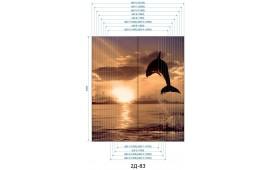 Фотопечать 2Д-83 для шкафа-купе на две двери. Дельфин