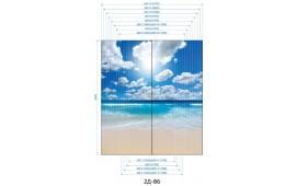 Фотопечать 2Д-86 для шкафа-купе на две двери. Пляж