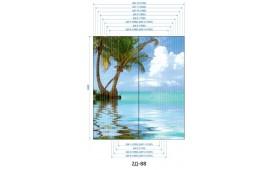 Фотопечать 2Д-88 для шкафа-купе на две двери. Пляж и пальмы