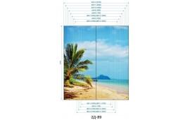 Фотопечать 2Д-89 для шкафа-купе на две двери. Пляж и пальмы