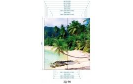Фотопечать 2Д-90 для шкафа-купе на две двери. Пляж и пальмы