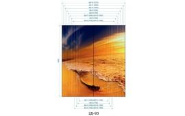 Фотопечать 2Д-93 для шкафа-купе на две двери. Морская тематика