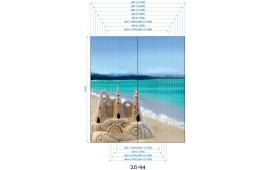 Фотопечать 2Д-94 для шкафа-купе на две двери. Морская тематика