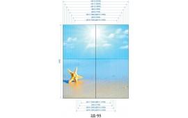 Фотопечать 2Д-95 для шкафа-купе на две двери. Морская тематика