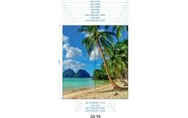 Фотопечать 2Д-96 для шкафа-купе на две двери. Пляж и пальмы