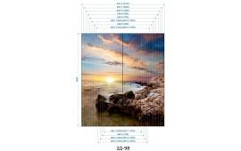 Фотопечать 2Д-98 для шкафа-купе на две двери. Морская тематика