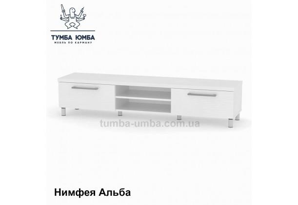Фото недорогая современная напольная тумба под телевизор и аппаратуру ТВ-1 МГ-2 ДСП в белом цвете дешево от производителя с доставкой по всей Украине