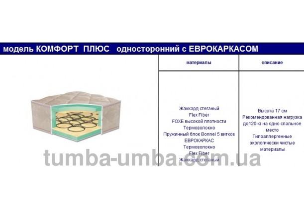 Ортопедический матрас Комфорт Плюс односторонний