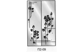 Пескоструйный рисунок П2-09 на две двери шкафа-купе. Цветы