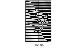 Пескоструйный рисунок П2-102 на две двери шкафа-купе. Узор