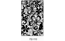 Пескоструйный рисунок П2-110 на две двери шкафа-купе. Цветы