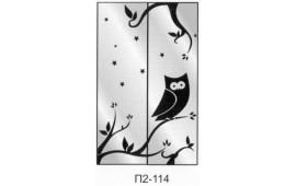 Пескоструйный рисунок П2-114 на две двери шкафа-купе. Детское