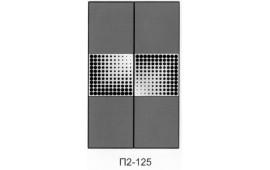 Пескоструйный рисунок П2-125 на две двери шкафа-купе. Комбинированные фасады