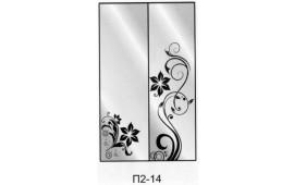 Пескоструйный рисунок П2-14 на две двери шкафа-купе. Цветы