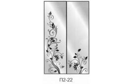 Пескоструйный рисунок П2-22 на две двери шкафа-купе. Цветы