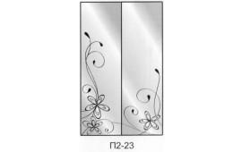 Пескоструйный рисунок П2-23 на две двери шкафа-купе. Цветы