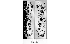Пескоструйный рисунок П2-29 на две двери шкафа-купе. Цветы