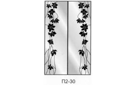 Пескоструйный рисунок П2-30 на две двери шкафа-купе. Цветы