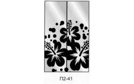 Пескоструйный рисунок П2-41 на две двери шкафа-купе. Цветы