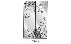 Пескоструйный рисунок П2-43 на две двери шкафа-купе. Цветы