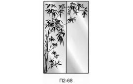 Пескоструйный рисунок П2-68 на две двери шкафа-купе. Дерево