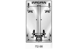 Пескоструйный рисунок П2-98 на две двери шкафа-купе. Узор
