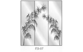 Пескоструйный рисунок П3-07 на три двери шкафа-купе. Узор