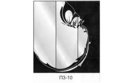Пескоструйный рисунок П3-10 на три двери шкафа-купе. Узор