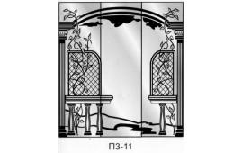 Пескоструйный рисунок П3-11 на три двери шкафа-купе. Узор