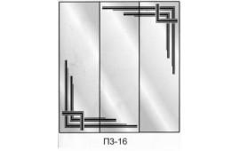 Пескоструйный рисунок П3-16 на три двери шкафа-купе. Узор