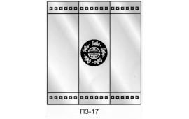 Пескоструйный рисунок П3-17 на три двери шкафа-купе. Узор
